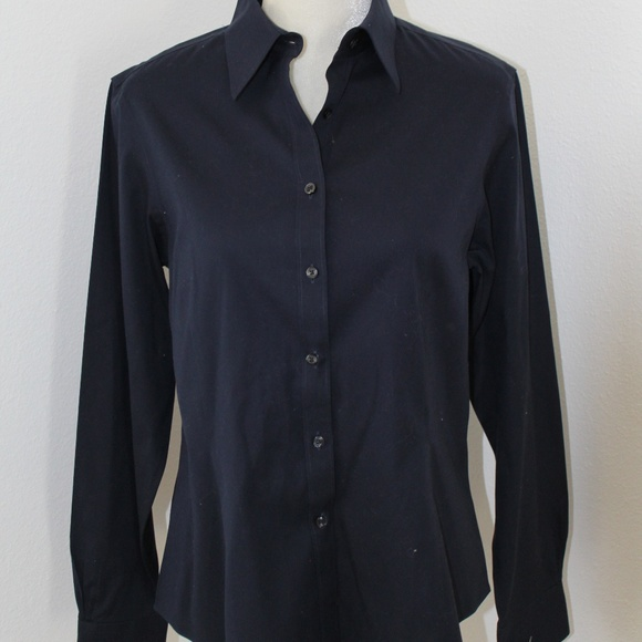 Brooks Brothers Womens Navy Button Up 12 EUC